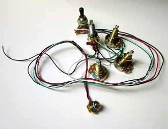 les paul wiring harness xl les paul wiring harness xl 500k coil tap gold black