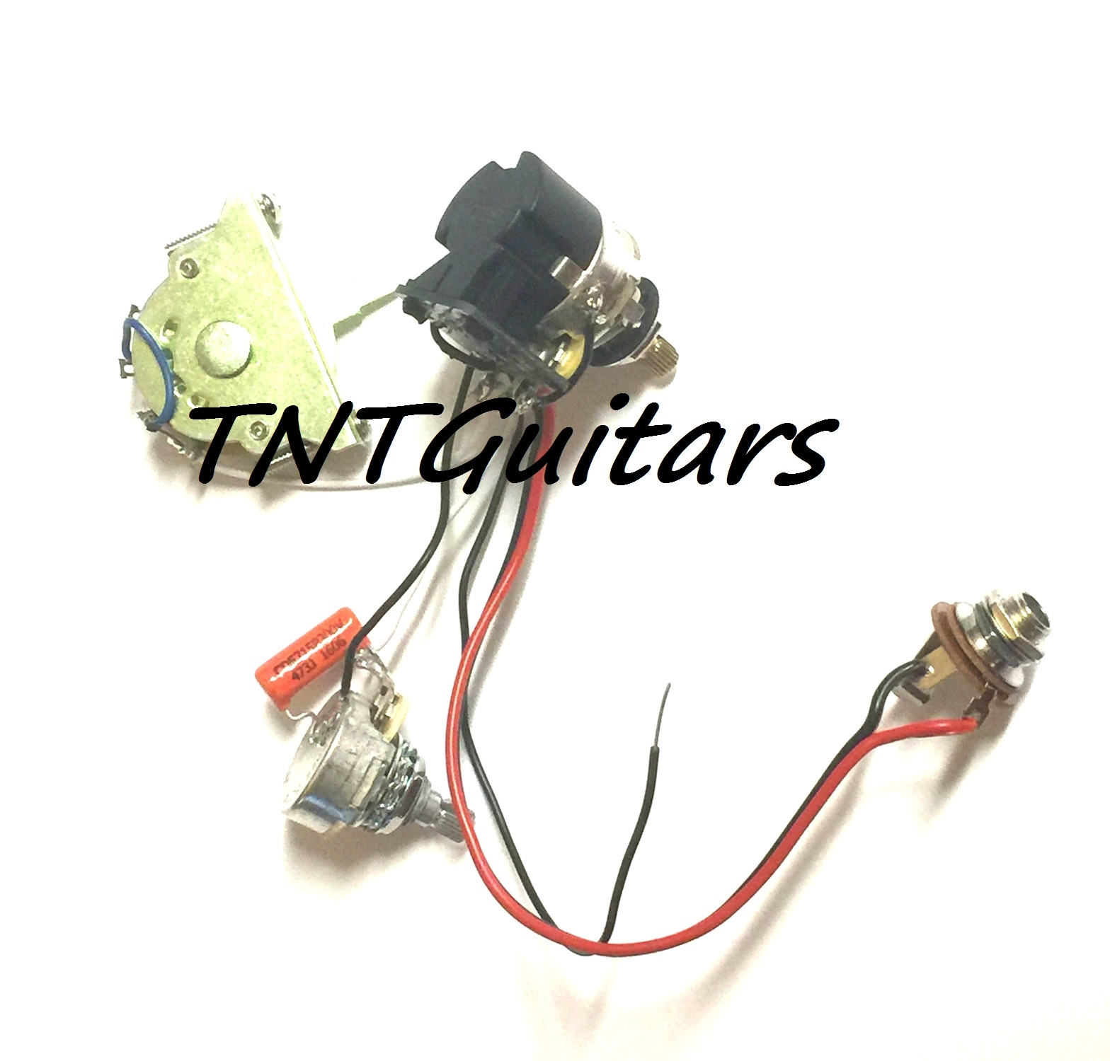1v1t Prewired Harness 2 Pickup Cts Push Pull Coil Split 3 Way Fcs Guitar Wiring Volume Tone 3way Switch Jack
