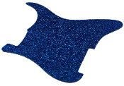 Blank Strat Pickguard, Create Your Own Stratocaster Guard Replacement, Choice of Colors, Controls & Other Options, Fender Replacement, Beveled Edge, Right or Left-Handed, Transparent / Translucent Nova Blue I