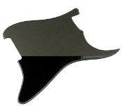 Blank Strat Pickguard, Create Your Own Stratocaster Guard Replacement, Choice of Colors, Controls & Other Options, Fender Replacement, Beveled Edge, Right or Left-Handed, Reflective Black Mirror