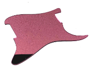 Blank Strat Pickguard, Create Your Own Stratocaster Guard Replacement, Choice of Colors, Controls & Other Options, Fender Replacement, Beveled Edge, Right or Left-Handed, Reflective Pink Mirror