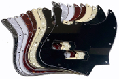 Jazz Bass Pickguard, P Bass Pickup Style Rout, 4 String / 10 Hole Style, Choice of Colors ~ Routed for P-Bass Pickup style. Will work with standard sized P-Bass pickups and you don't even have to unstring to get a new look.