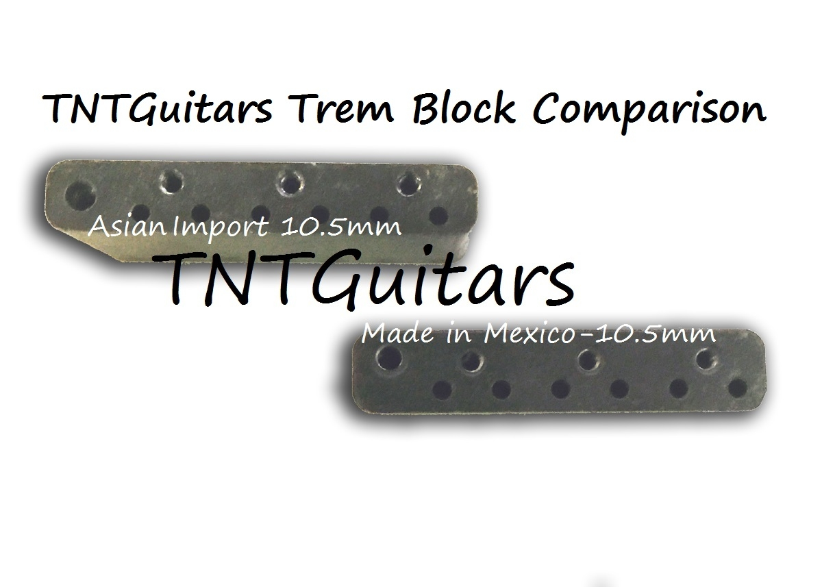 strat trem steel block arm mim made in mexico